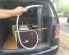 Aménagement pour installer un lit et dormir dans son véhicule : sa voiture , son fourgon, son camion par Nomad-Addict : Le Kit Duo ici en position Table Extérieure