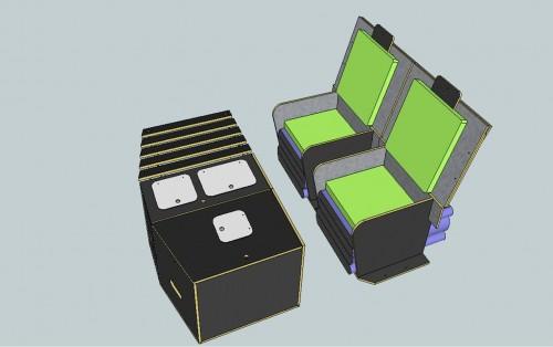 Le kit Nomad Addict permet de transformer une voiture en mini camping-car ou fourgon aménagé