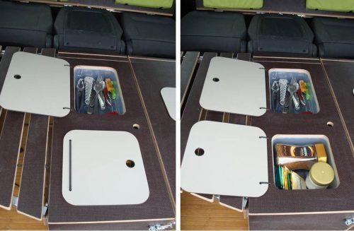 Les kit Nomad Addict permettent de transformer et aménager votre véhicule voiture ou fourgon en mini camping-car. C'est la solution idéale pour installer un lit, camper et dormir dans sa voiture ou son fourgon aménagé. Nos kits de camping pour voiture sont entièrement amovibles en quelques minutes. Le Kit Nomad